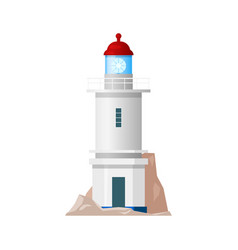 lighthouse nautical sea light house beacon tower vector image
