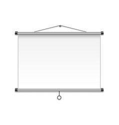 meeting projector screen isolated on white wall vector image
