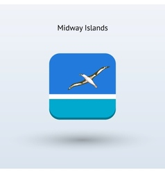 Midway Islands flag icon vector