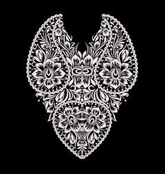 Neckline - ornamental floral design vector