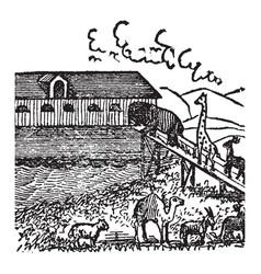 Noahs ark vintage vector