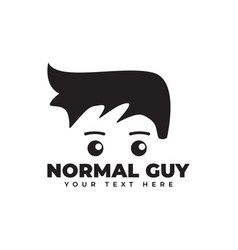 normal guy graphic design template isolated vector image