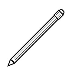 office pencil icon outline style vector image