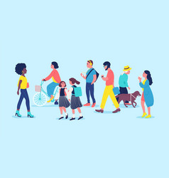 people or passerson street men women and vector image