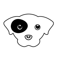 pet dog head silhouette vector image