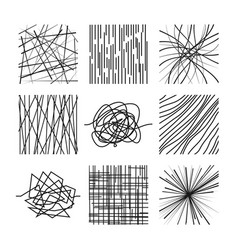 Random chaotic asymmetrical lines abstract modern vector