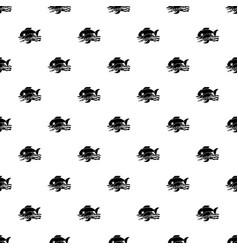 sea food pattern seamless vector image