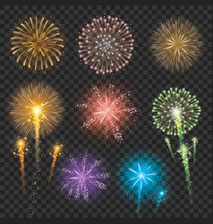 set firework vector image