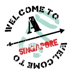 Singapore stamp rubber grunge vector