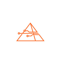 smart pyramid tech logo icon vector image