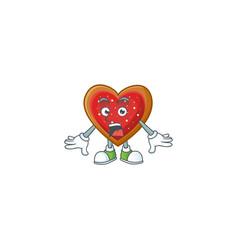 Surprised love cookies face gesture on cartoon vector