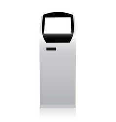 touch screen kiosk vector image