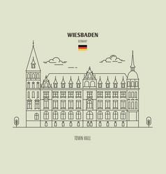 Town hall in wiesbaden vector