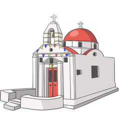 Traditional greek church vector