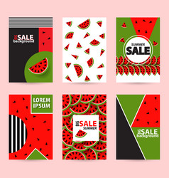 trendy memphis style watermelon geometric pattern vector image