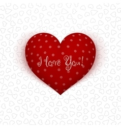 Valentines Day realistic red Heart with Shadows vector image