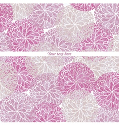 Vintage Flowers Pattern Card vector image
