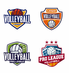volleyball logo badge vector image