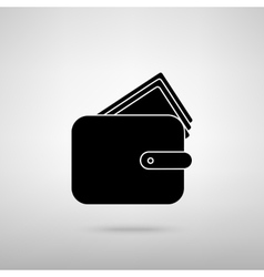 Wallet sign vector image