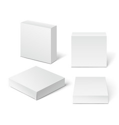 White cardboard package box vector