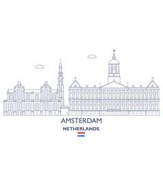 amsterdam city skyline vector image