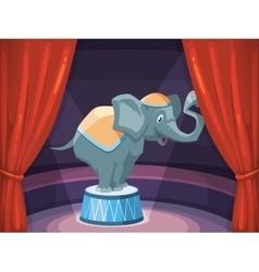 big elephant on arena of circus vector image