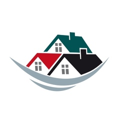 House roofs symbol vector image vector image