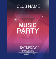 music party edm sound triangle poster electronic vector image