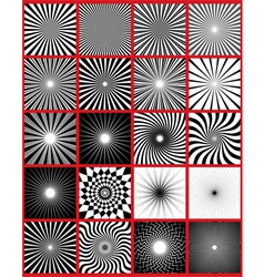 ray lights pack vector image vector image