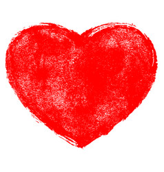 red heart symbol with texture vector image