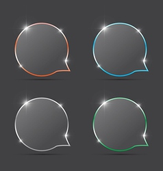 speech bubbles with spark vector image