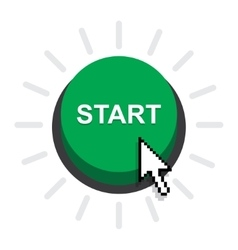 Start power button vector image