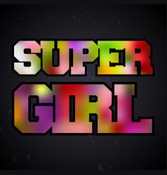 Super girl vintage stamp vector