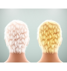 Back of head vector image vector image