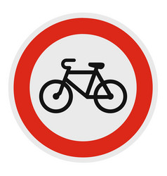 no velo icon flat style vector image vector image