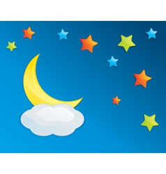 Colorful Night Sky Eps10 vector image vector image
