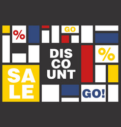 discount poster with cool design vector image vector image