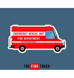 Fire truck isolated vector image vector image