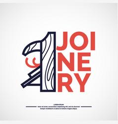 logo carpentry workshop vector image