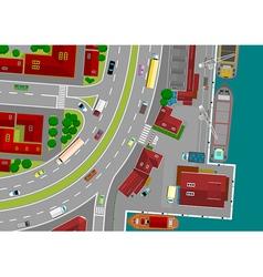 small cargo port vector image vector image