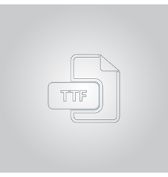 TTF extension text file type icon vector image