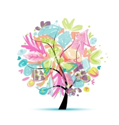 Abstract tree floral for your design vector image vector image