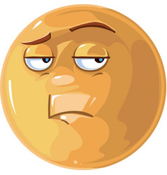 Bored emotion vector image