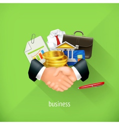 Business and partnership flat design Set vector image vector image