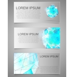 Card with geometric figure Abstract template vector image vector image