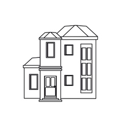 house urban expensive outline vector image vector image