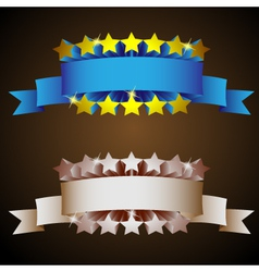 label with stars in vintage styletwo colored versi vector image vector image