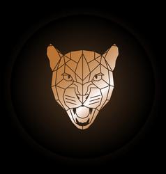 logo puma head in polygonal style vector image