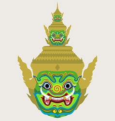 Ravana giant head vector