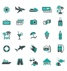 signs vacation travel recreation first vector image